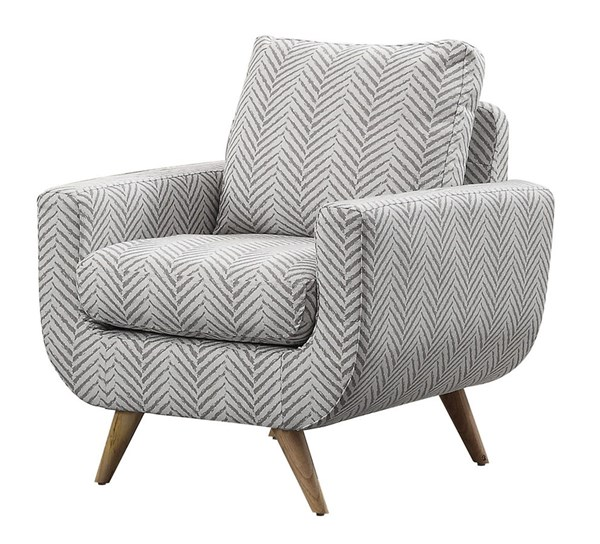 Home Elegance Deryn Grey Accent Chair HE-8327GY-1S