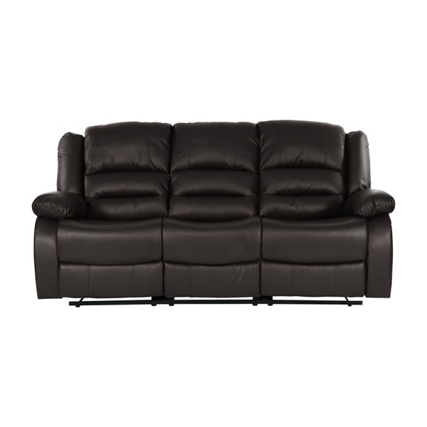 Home Elegance Jarita Brown Double Reclining Sofa HE-8329BRW-3