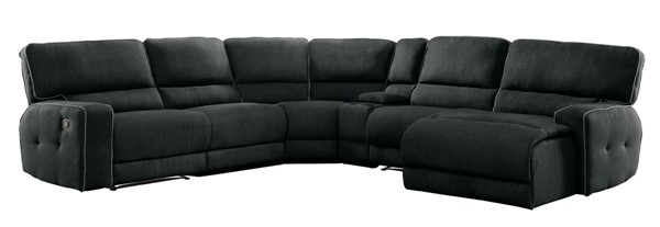 Home Elegance Keamey Dark Gray 6pc Sectional HE-8336-6LRRC
