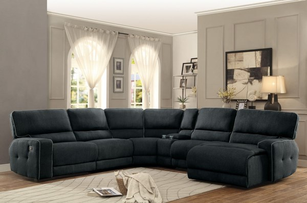Home Elegance Keamey Dark Grey Sectionals HE-8336-SEC-S-VAR