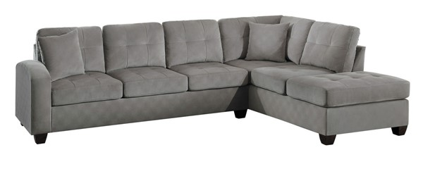 Home Elegance Emilio Taupe 2pc Sectional HE-8367TP