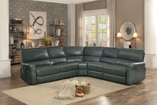 Home Elegance Kismet Gray 3pc Sectional HE-8369GY-3