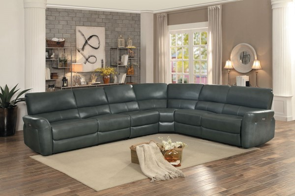 Home Elegance Kismet Gray 4pc Sectional HE-8369GY-4