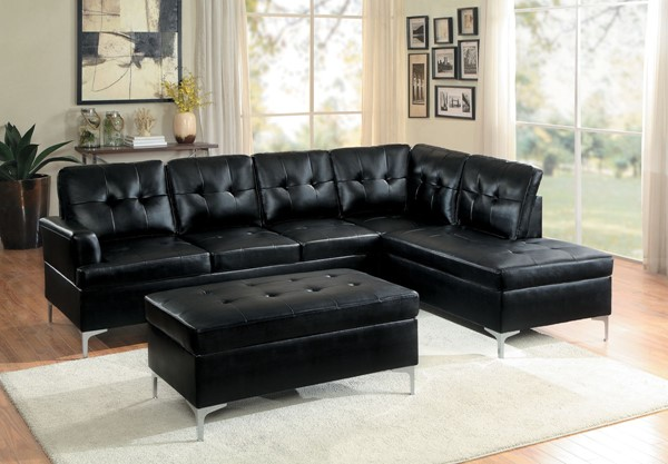 Home Elegance Barrington Black Brown 3pc Sectionals HE-8378-3SEC-VAR