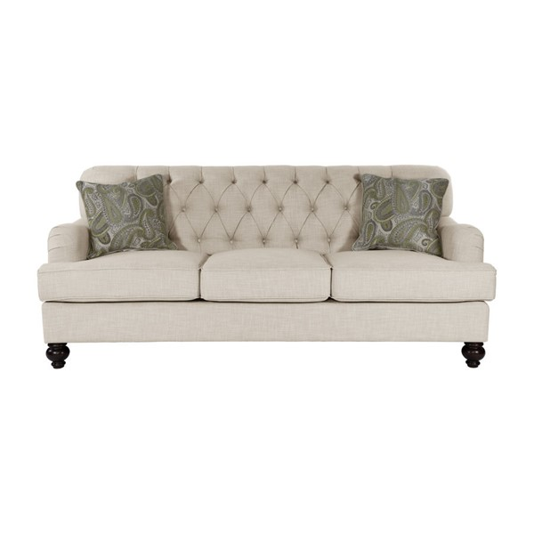 Home Elegance Clemencia Natural Sofa with Two Pillows HE-8380-3