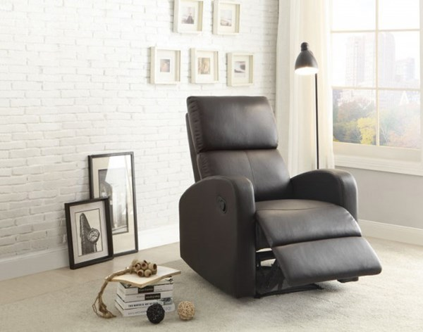 Mendon Contemporary Dark Brown Bi-Cast Vinyl Reclining Chair HE-8404DB-1