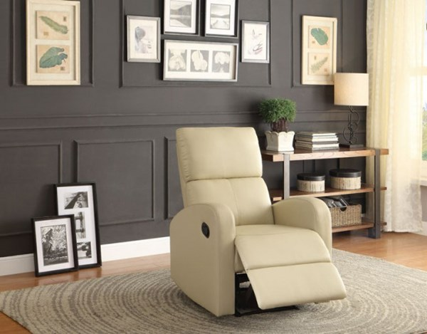 Mendon Contemporary Taupe Bi-Cast Vinyl Reclining Chair HE-8404TP-1