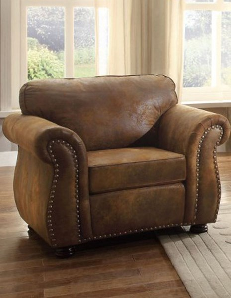 Corvallis Traditional Brown Microfiber Chair HE-8405BJ-1