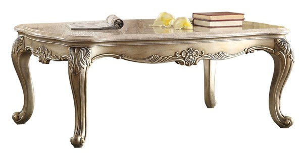 Home Elegance Fiorella Cocktail Table with Marble Top HE-8412-30