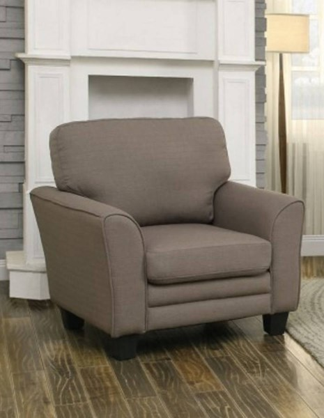 Adair Classic Beige Grey Teal Fabric Wood Chairs HE-8413-CH-VAR