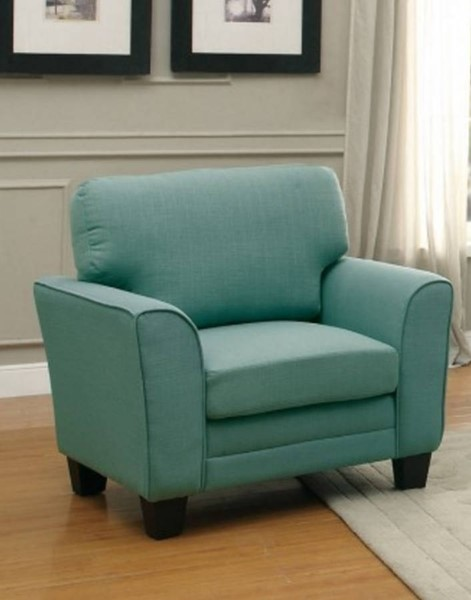Adair Classic Teal Fabric Wood Curve Chair HE-8413TL-1