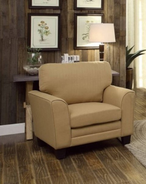 Adair Classic Yellow Fabric Wood Curve Chair HE-8413YW-1