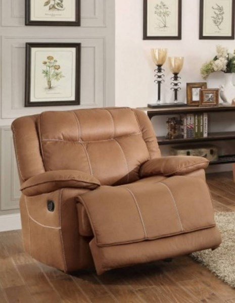 Wasola Brown Polyester Glider Reclining Chair HE-8414-1