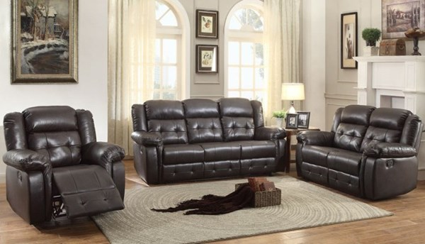 Palco Modern Faux Leather Reclining Living Room Set HE-8425-LR