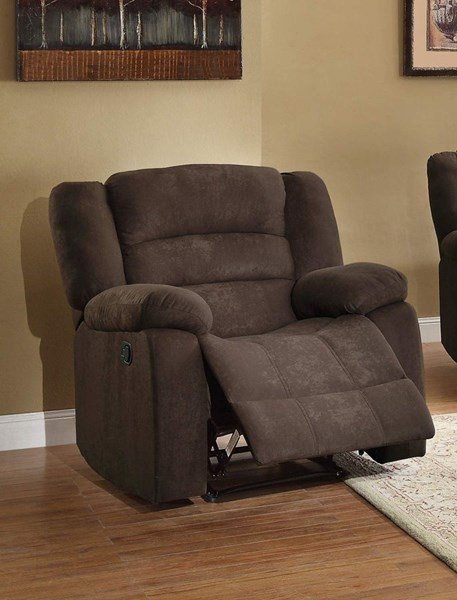 Greenville Chocolate Fabric Reclining Chair HE-8436CH-1
