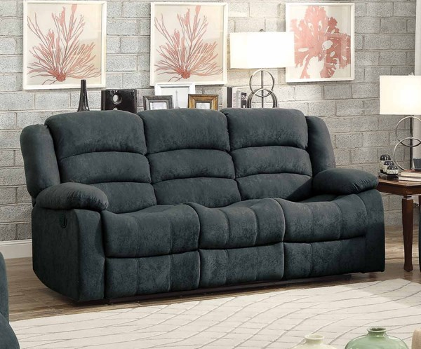 Home elegance greenville grey double reclining sofa the for Cheap sectional sofas greenville sc