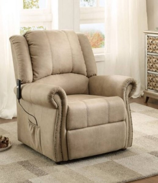 Iola Traditional Taupe Polyester Power Lift Chair HE-8437-1LT