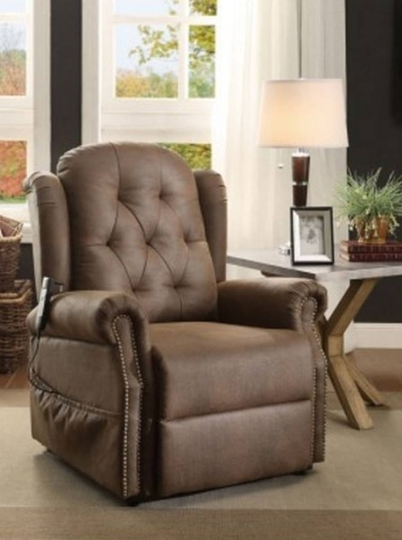 Roeland Traditional Dark Brown Polyester Power Lift Chair HE-8438-1LT