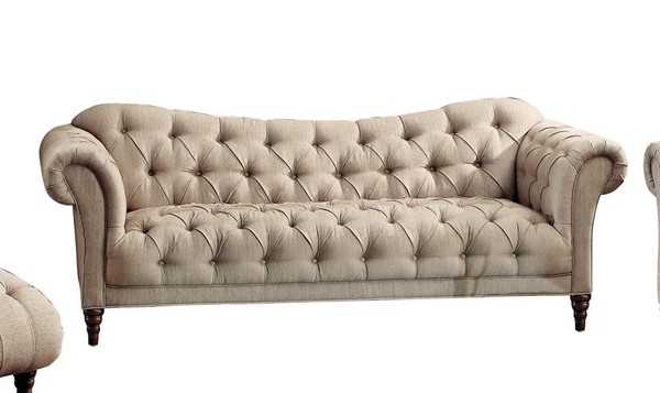Home Elegance St Claire Brown Tone Sofa HE-8469-3