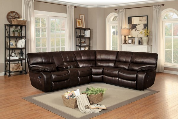 Home Elegance Pecos Brown Grey 3pc Sectionals HE-8480-SEC-VAR