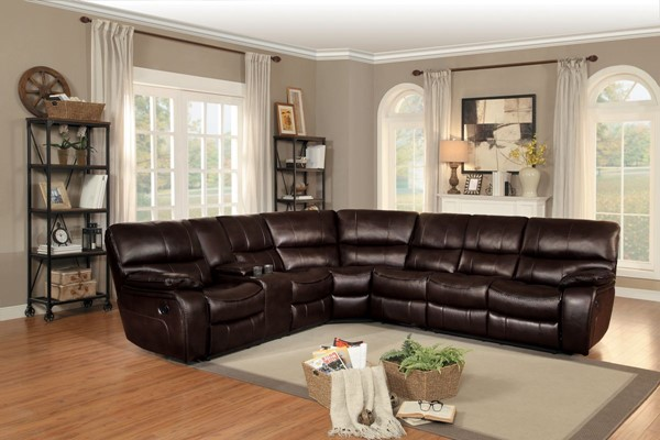 Home Elegance Pecos Brown Grey 4pc Sectionals HE-8480-SEC-VAR1