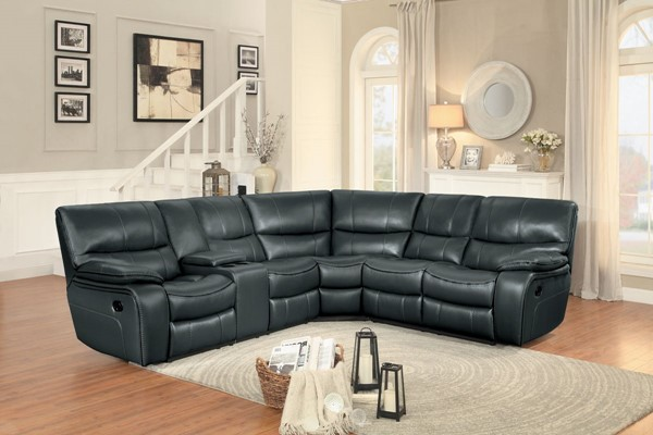 Home Elegance Pecos Grey 3pc Sectional HE-8480GRY-3SC