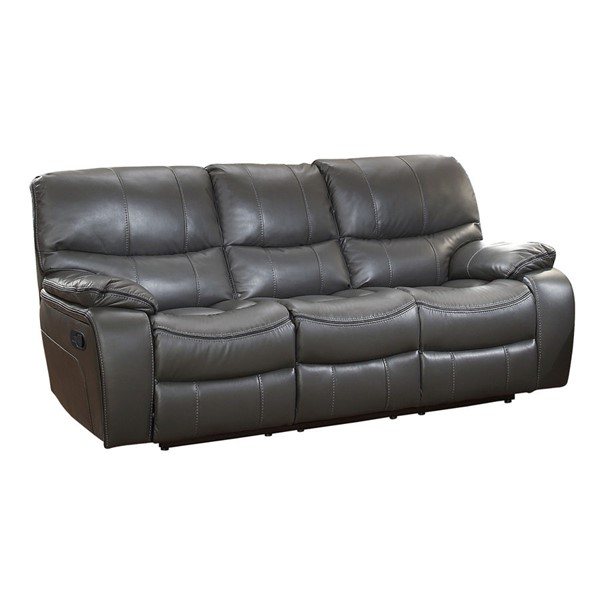 Home Elegance Pecos Grey Double Reclining Sofa HE-8480GRY-3