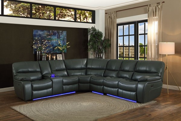 Home Elegance Pecos Grey 4pc Power Sectional HE-8480GRY-4SCPD