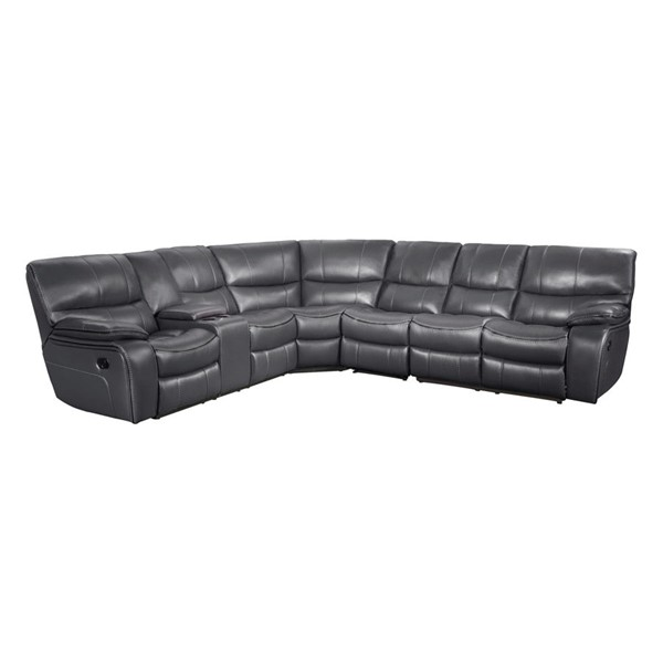 Home Elegance Pecos Grey 4pc Sectional HE-8480GRY-4SC