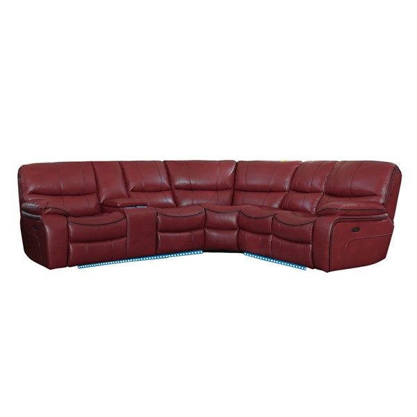 Home Elegance Pecos Red 3pc Power Sectional HE-8480RED-3SCPD