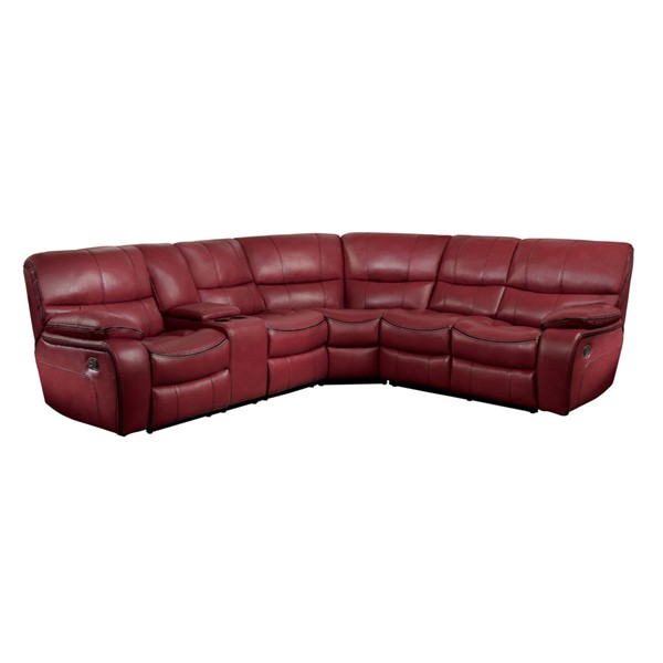 Home Elegance Pecos Red 3pc Sectional HE-8480RED-3SC