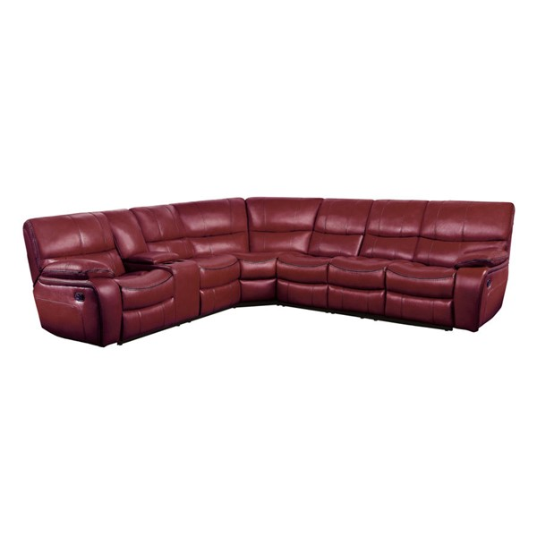 Home Elegance Pecos Red 4pc Sectional HE-8480RED-4SC