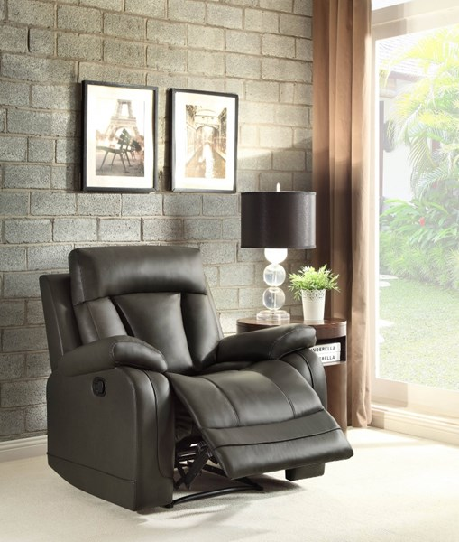 Ackerman Grey Bonded Leather Reclining Chair HE-8500GRY-1