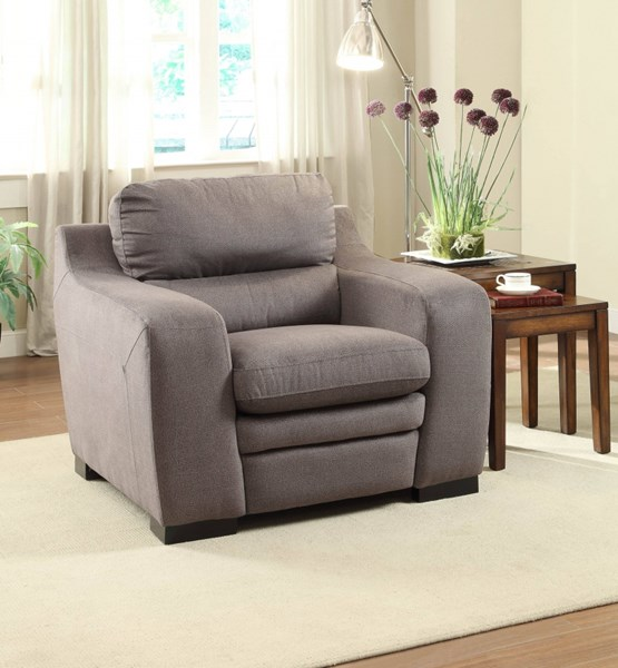 Neve Contemporary Grey Fabric Cushion Chair HE-8502GY-1