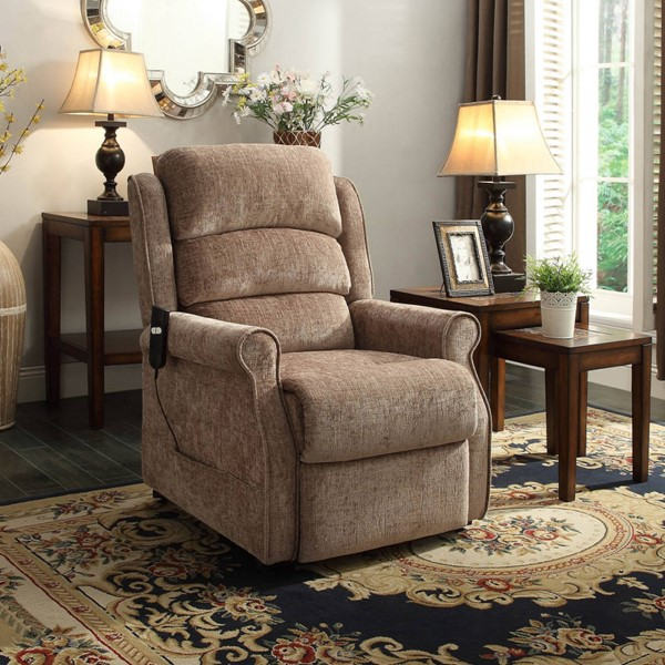 Milford Traditional Chenille Fabric Power Lift Chair HE-8509-1LT