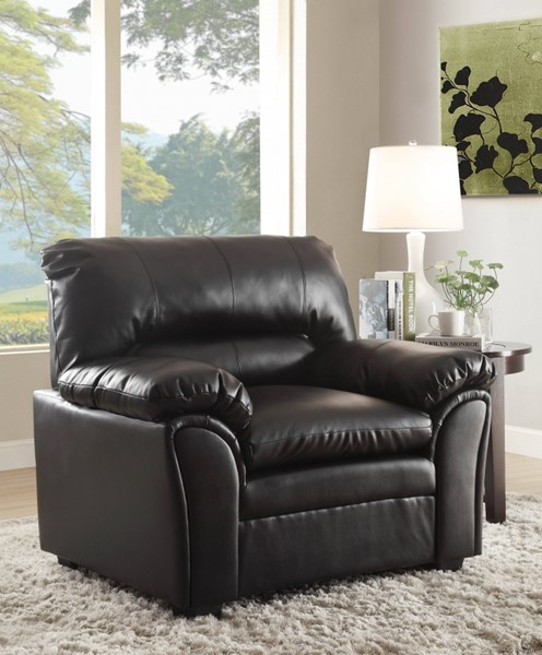 Talon Transitional Black Bonded Leather Chair HE-8511BK-1