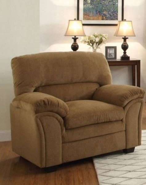Talon Transitional Brown Fabric Bonded Leather Chair HE-8511CN-1