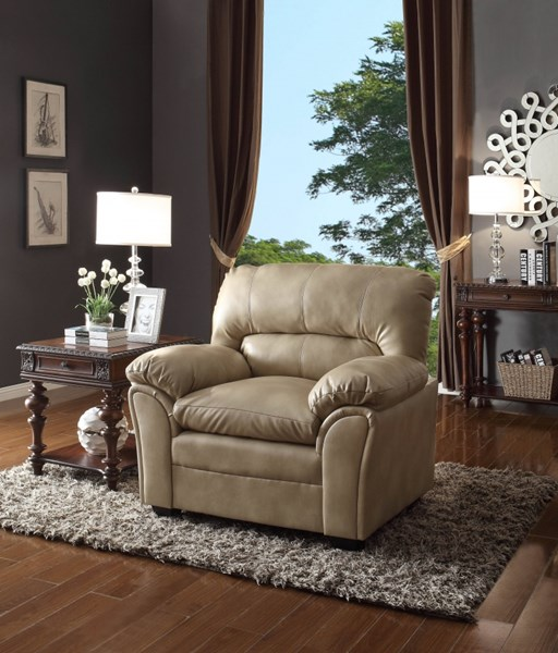 Talon Transitional Taupe Bonded Leather Chair HE-8511TP-1