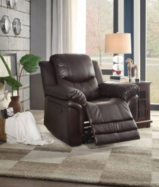 St Louis Park Dark Brown Bonded Leather Glider Reclining Chair HE-8515BRW-1
