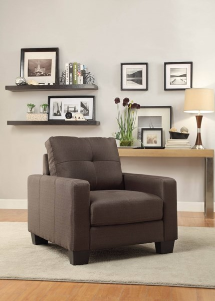 Ramsey Modern Grey Polyester Chair W/tufted Seat HE-8518-1