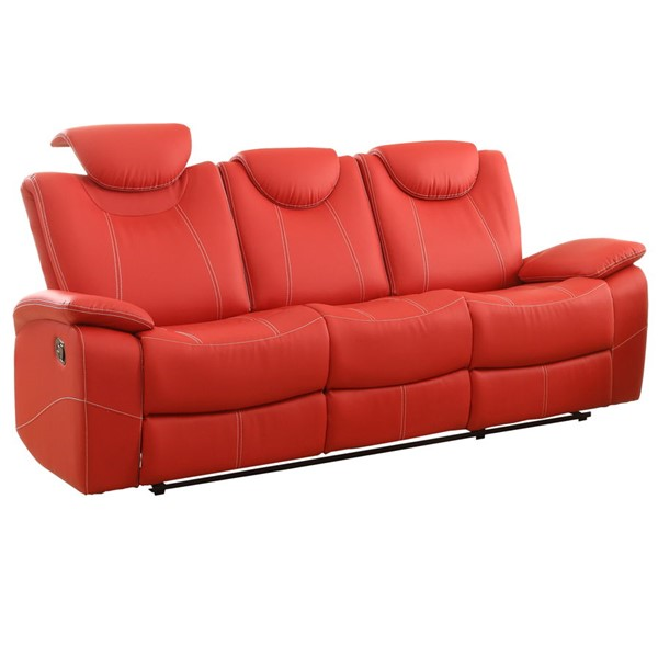 Home Elegance Talbot Red Double Reclining Sofa HE-8524RD-3