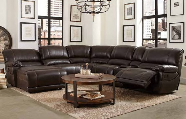 Willard Casual Dark Brown Faux Leather Right Side Reclining Chair HE-8536-RR