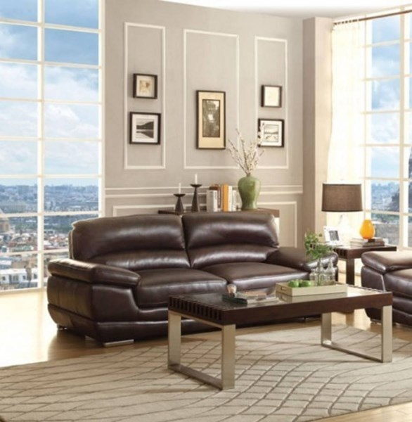 triplett contemporary faux leather living room set