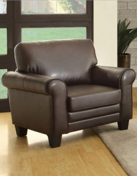 Hume Traditional Dark Brown Bonded Leather Chair HE-8579DB-1