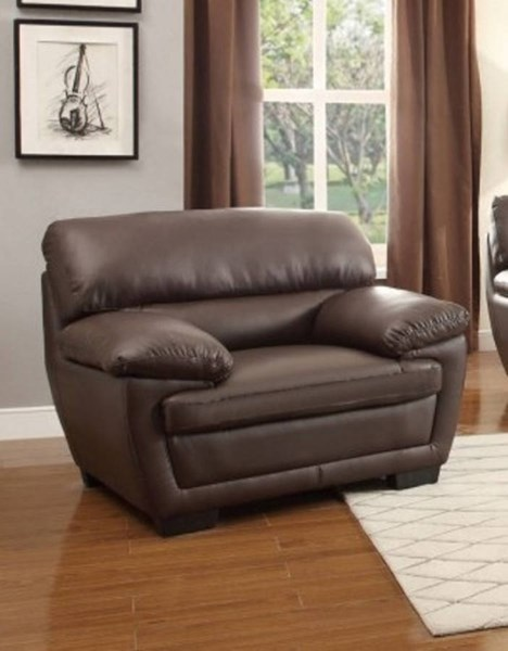 Adrian Contemporary Brown Taupe Vinyl Chairs HE-8588-CH-VAR
