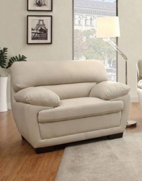 Adrian Contemporary Taupe Vinyl Cushion Back Chair HE-8588TPE-1