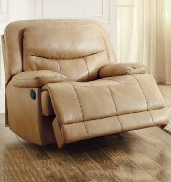 Risco Honey Taupe Faux Leather Glider Reclining Chair HE-8599TPE-1