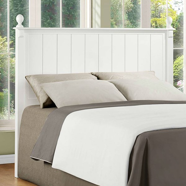 Pottery Old World White Wood Queen/Full Headboard HE-875W-1HB