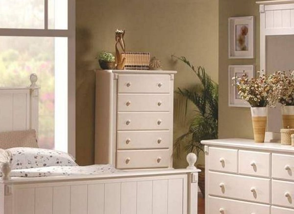 Pottery Old World White Wood Drawer Chest HE-875W-9