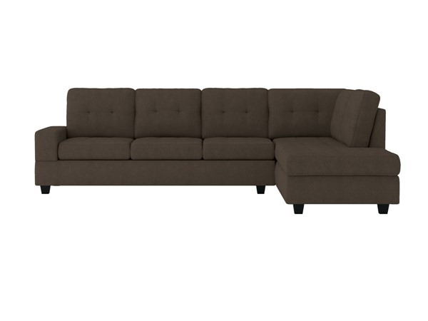 Home Elegance Maston Chocolate 2pc Sectional HE-9507CHC-SEC